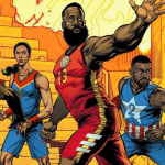 Avengers basketball sneakers by Adidas and Marvel