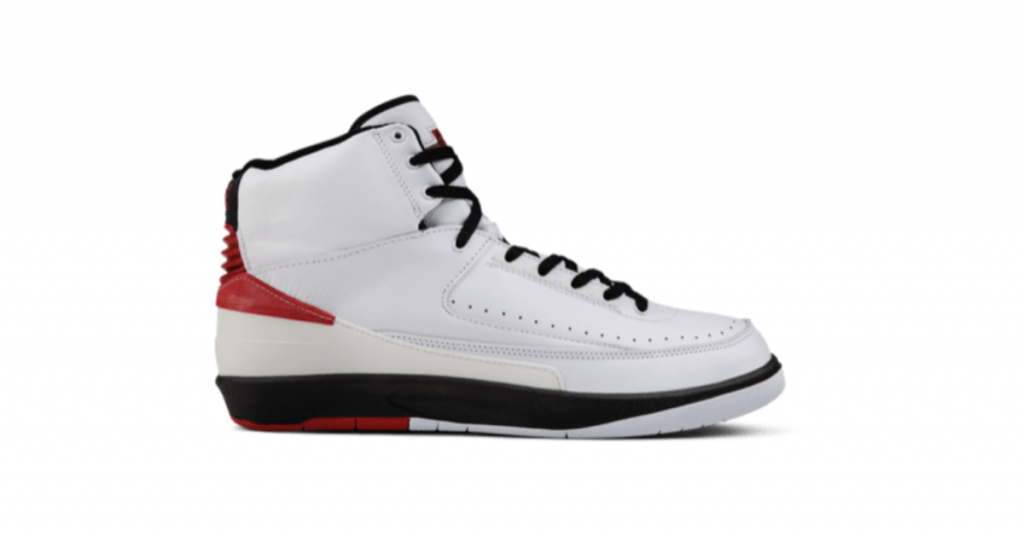 The Air Jordan 2 OG on a white font, the sneaker was sold for $31,000