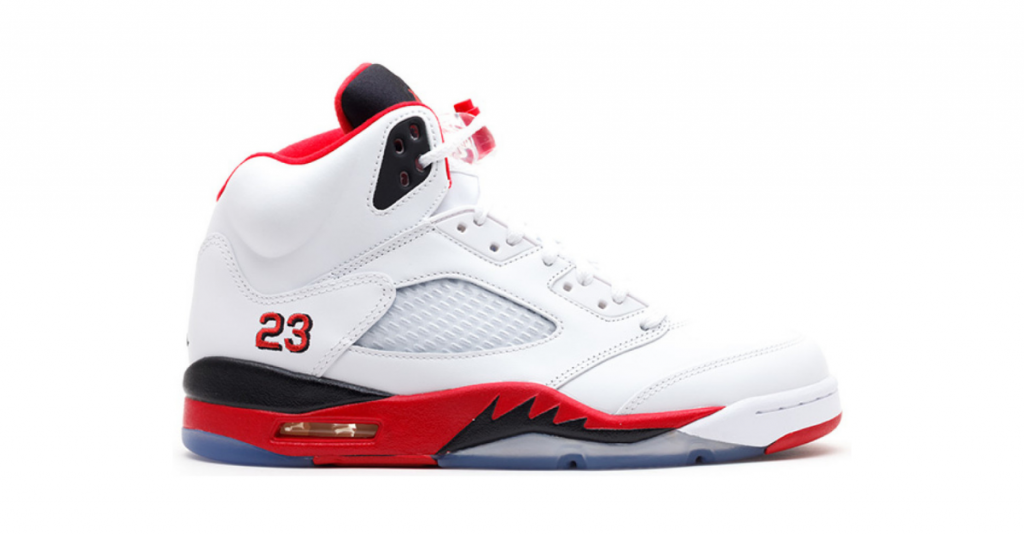 Air Jordan V SE official model seen on a white font