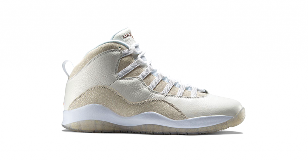 Air Jordan x OVO seen on a white font