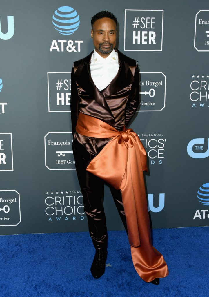 Billy porter's outfit at the critics choice awards 2019