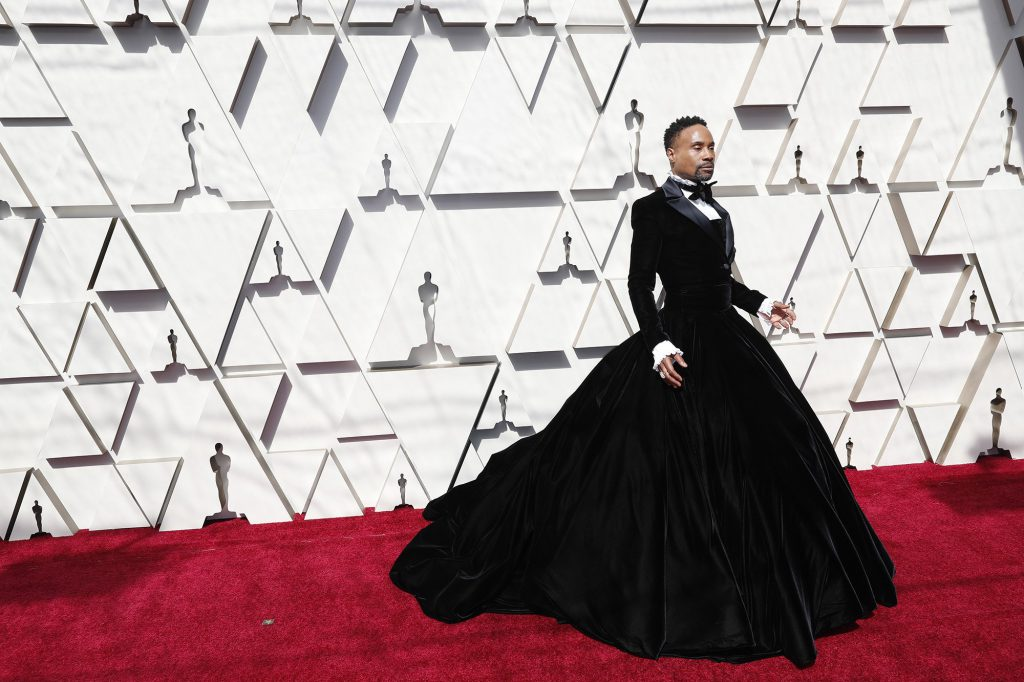 Billy Porter wearing a suit dress to the oscars 2019