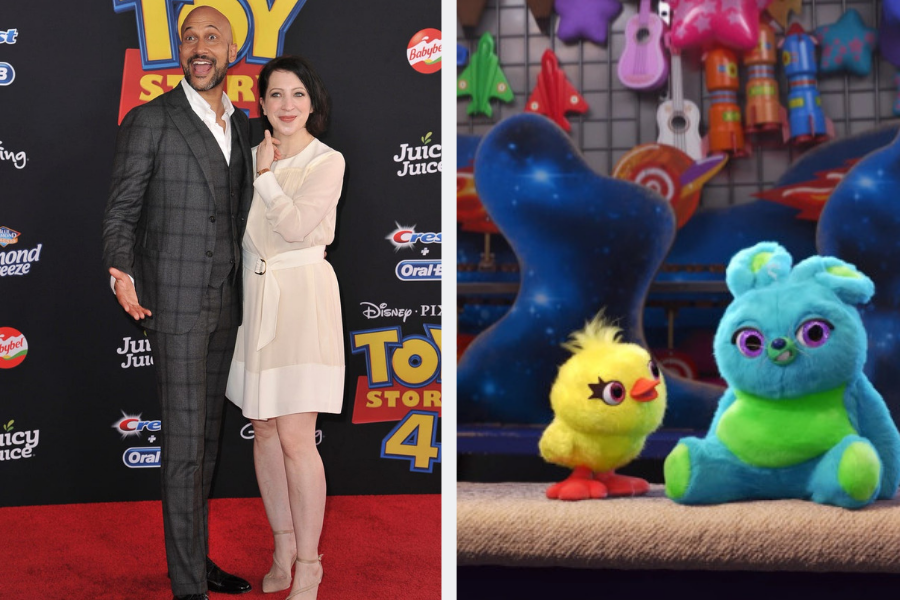 Keegan Michael key on toy story 4 red carpet ducky