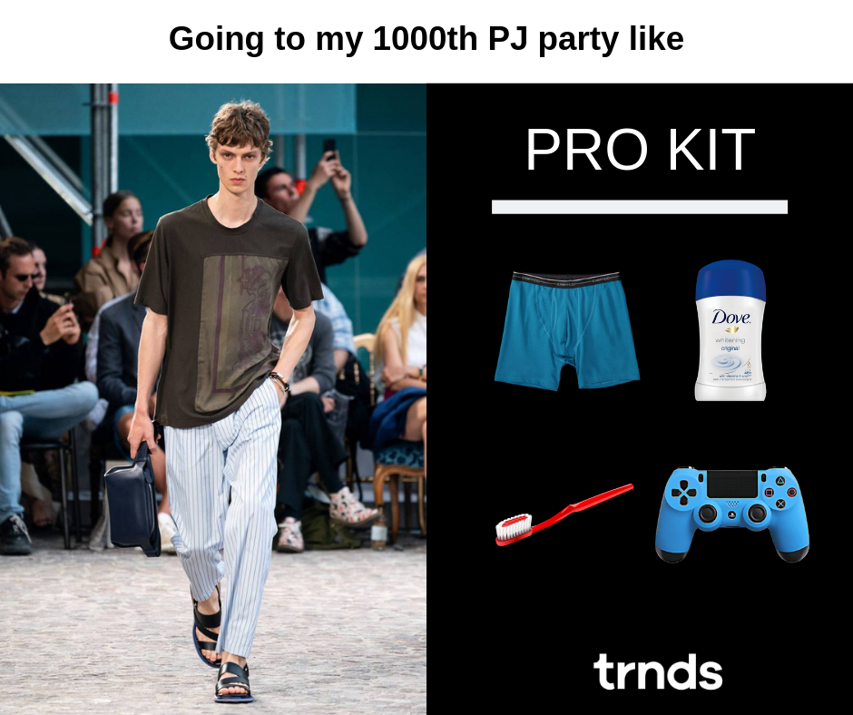 Meme about Hermes fashion show