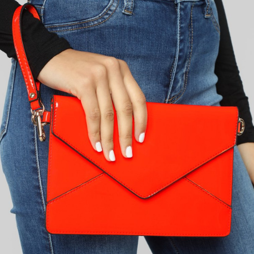 Product image of a red clutch