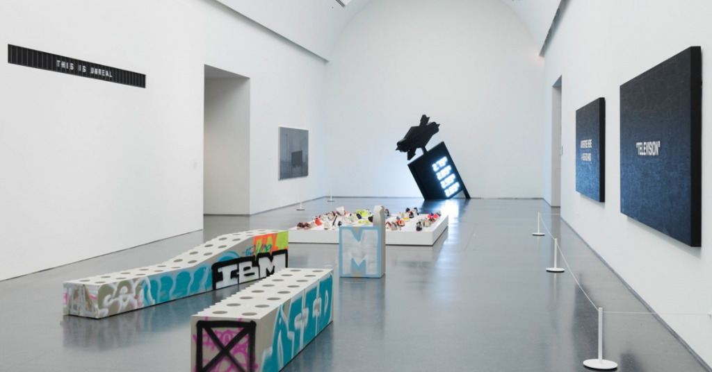 "A look inside Virgil Abloh's exhibition ""figures of speech"" at the MCA in Chicago"