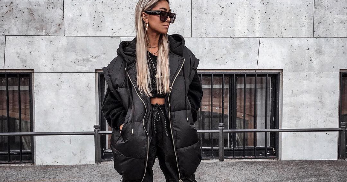 @blvkdope wearing an all black outfit in street style clothes