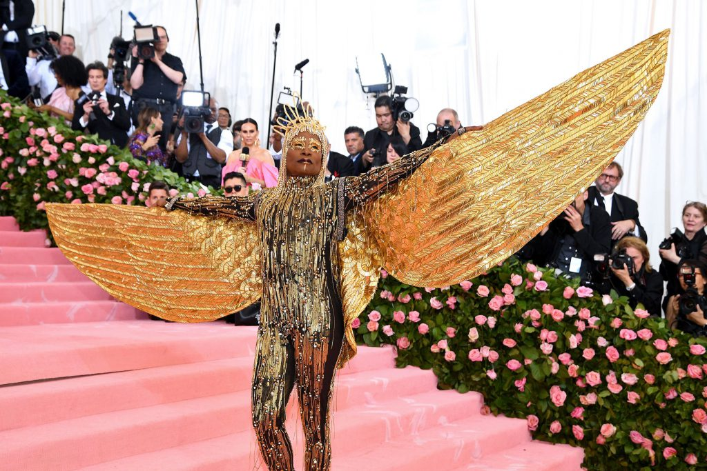 Billy Porter wearing an outstanding outfit to the met gala 2019