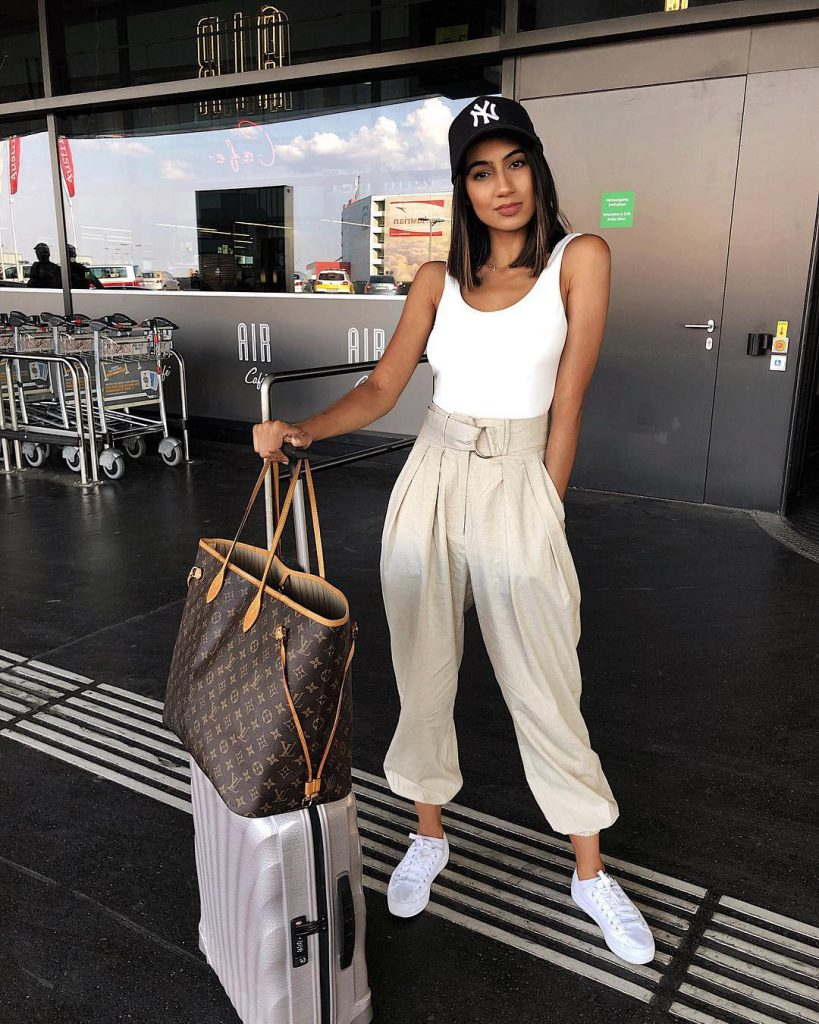 Airport outfit by soniaheartsfashion