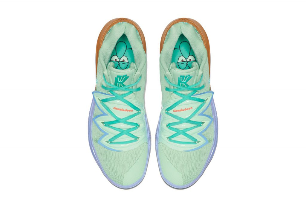Squidward Tentacles Sneaker on a white background