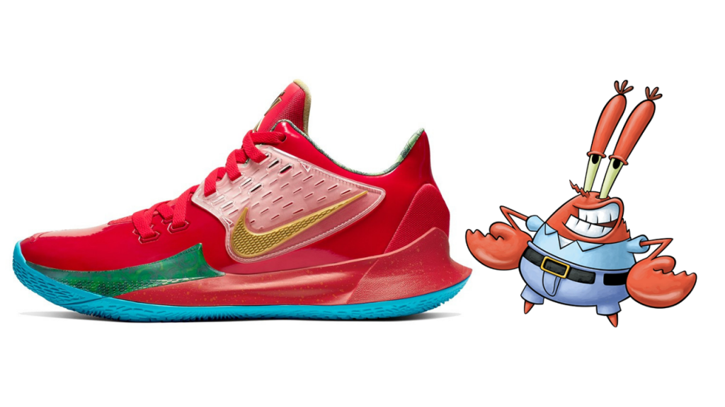 Mr. Krabs sneaker on a white background
