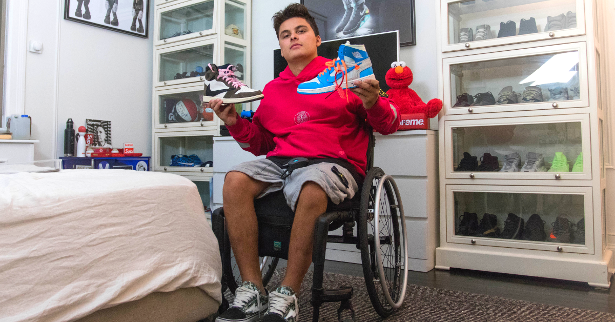 Emmanuel-Mavridakis-Wheelchair-Hypebeast-Holding-Exclusive-Sneakers