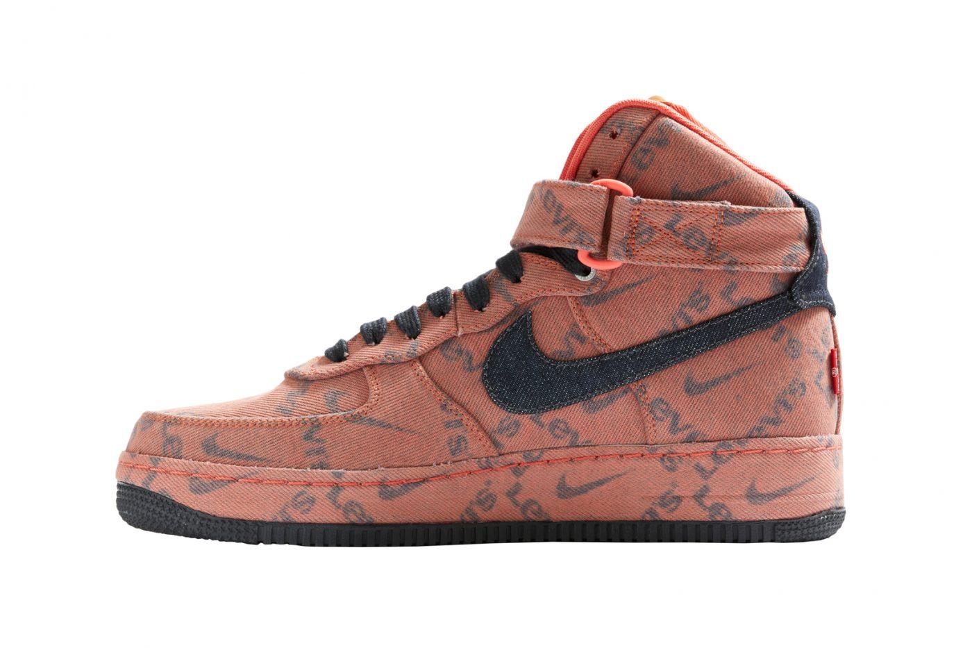 LEVIS x Nike Air Force 1 Custom Denim Limited Edition Size