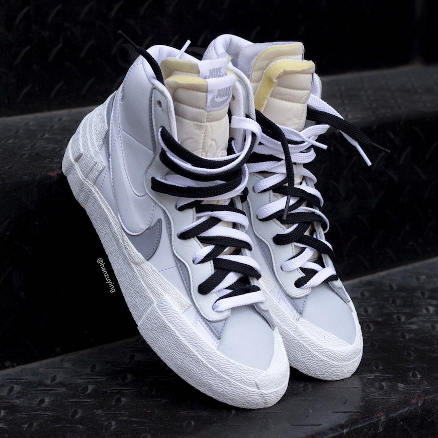 molécula Influencia Encommium  First Look at Sacai x Nike Blazer Mid - White Wolf Grey - Fashion  Inspiration and Discovery