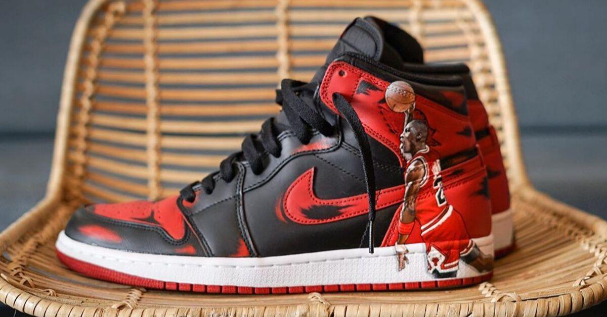Nike Air Max 97 Red Leather & Leopard Print – Head Jordan