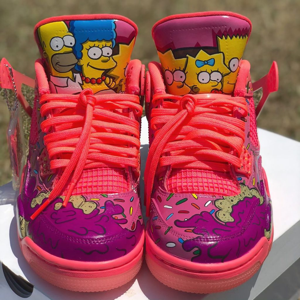 Simpson-jordan-4-custom-sneakers