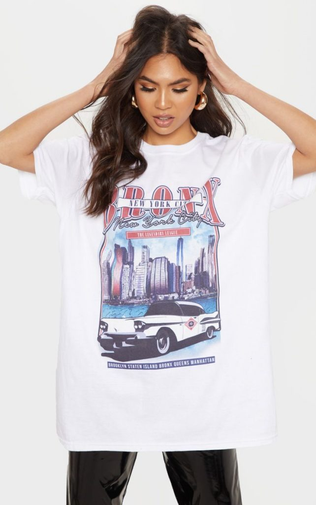 Vintage-police-oversized-t-shirt