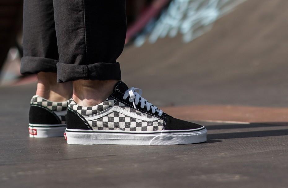 cheap-sneakers-vans-old-skool-checkerboard-black-white