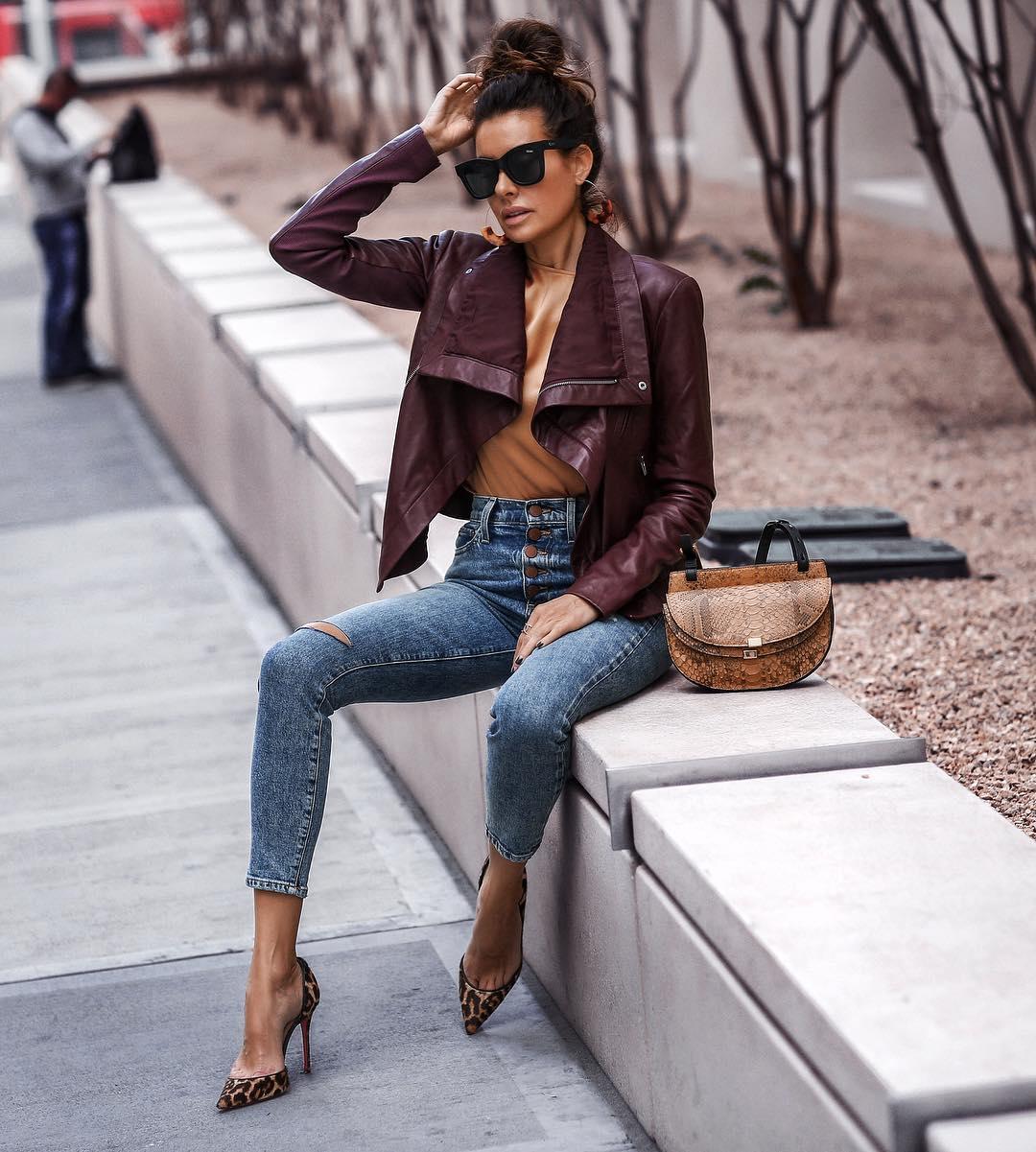 pruple-leather-jacket-women