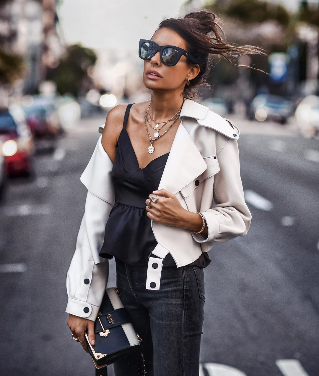 white-leather-jacket-women-black-outfit