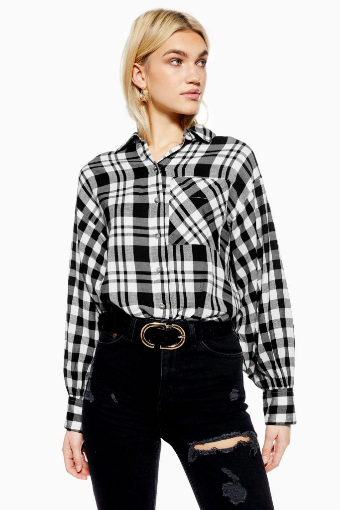 Black-and-white-flannel-shirt-topshop