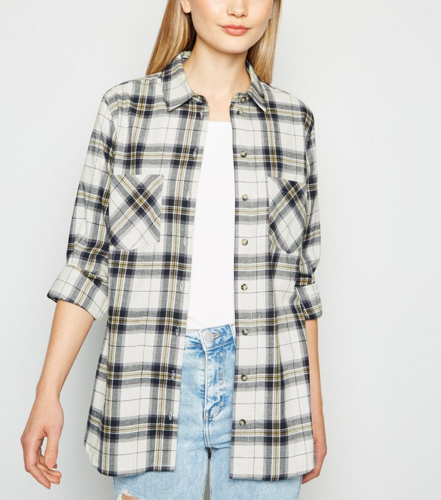 White-plaid-flannel-shirt