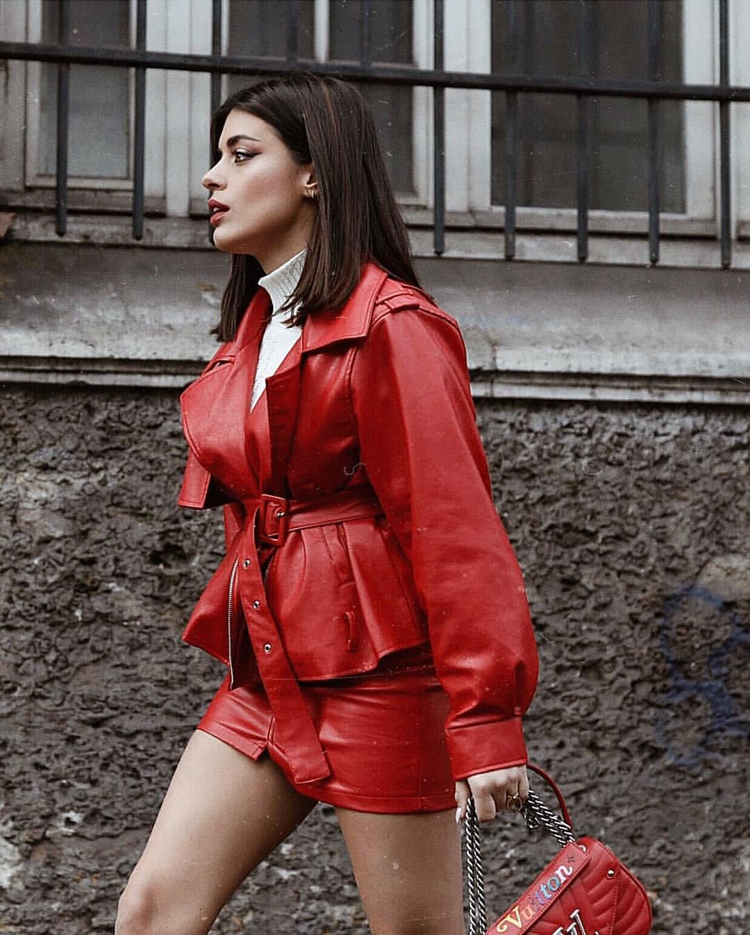 red-leather-jacket-monochromatic-women