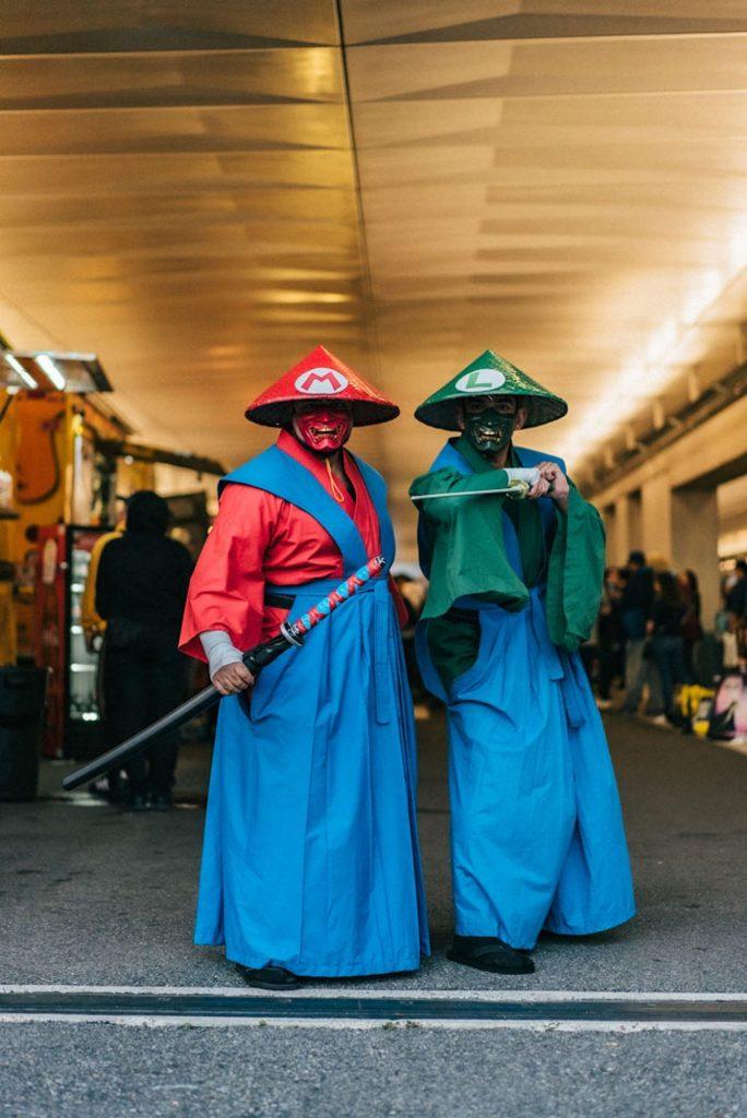 Best-cosplayers-comic-con-new-york-2019-mario-luigi-samourai