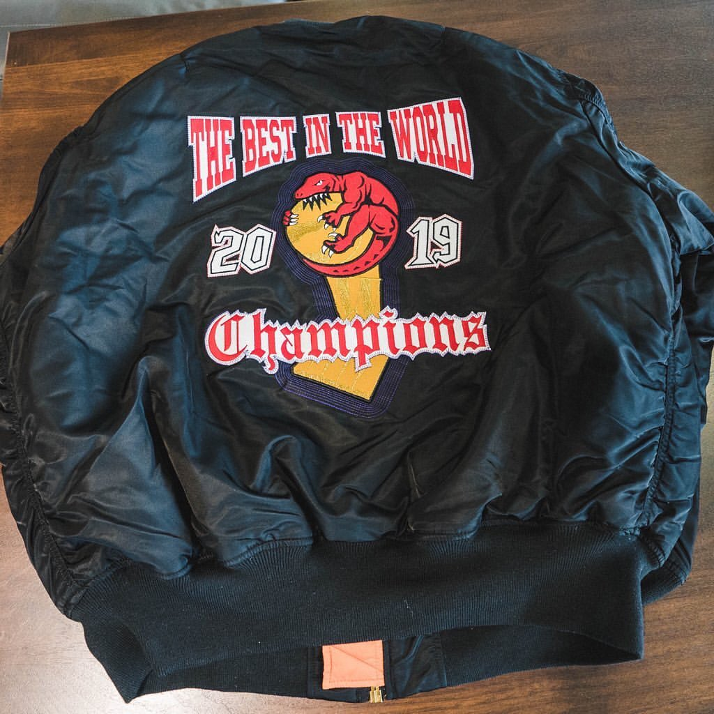back-picture-of-the-custom-nba-championship-jacket-toronto-raptors