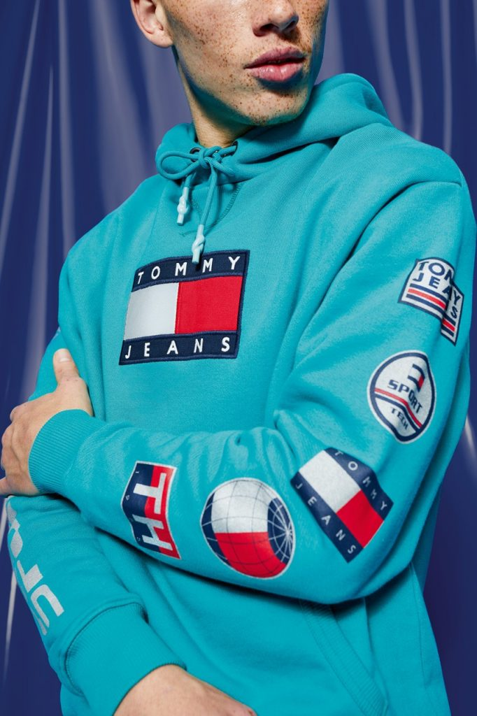 men-turquoise-hoodie-tommy-hilfiger-tommy-jeans-sport-tech-denim-capsule-collection