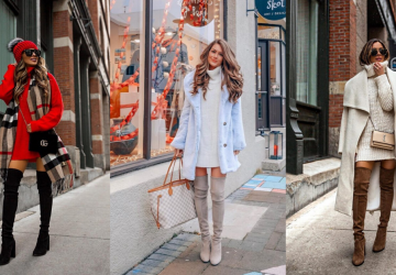 How-to-wear-sweater-dresses-in-winter