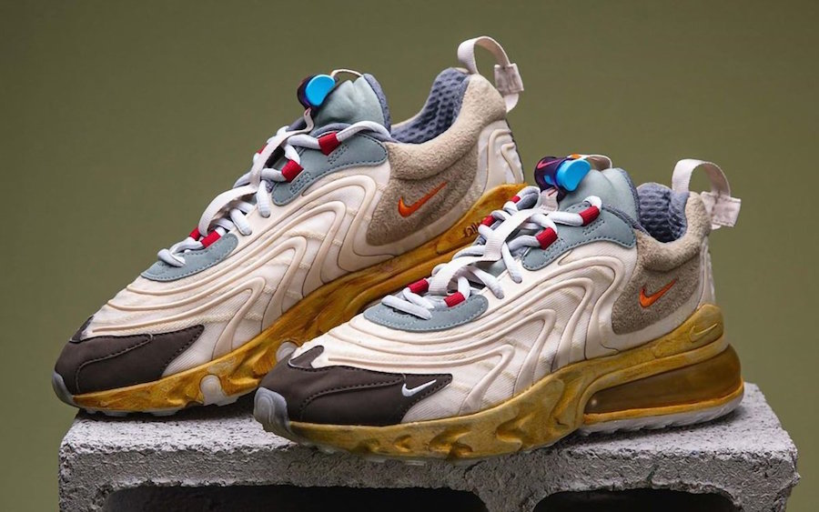 hidrógeno Calificación Zapatos antideslizantes  Travis Scott x Nike Air Max 270 React: Full Look & Release Details -  Fashion Inspiration and Discovery