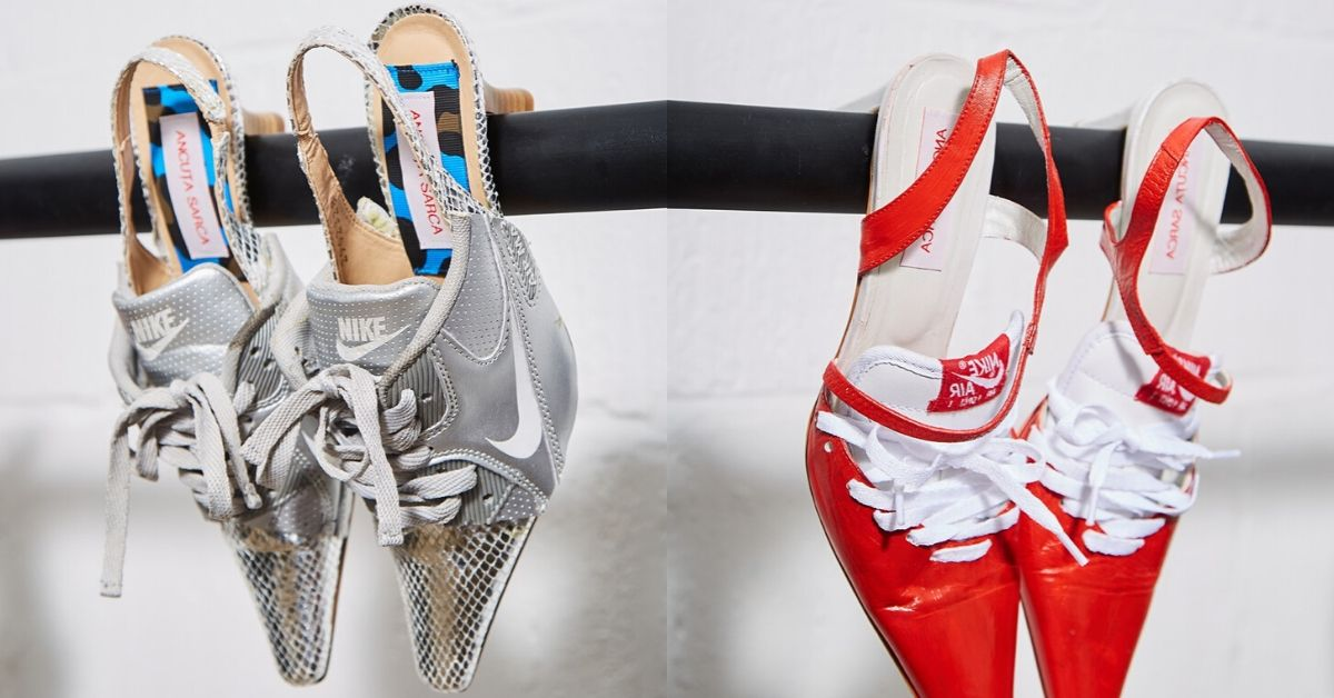 Vigilante constructor triunfante  Ancuta Sarca's Upcycled Nike Heels Will Soon Be Available on LN-CC