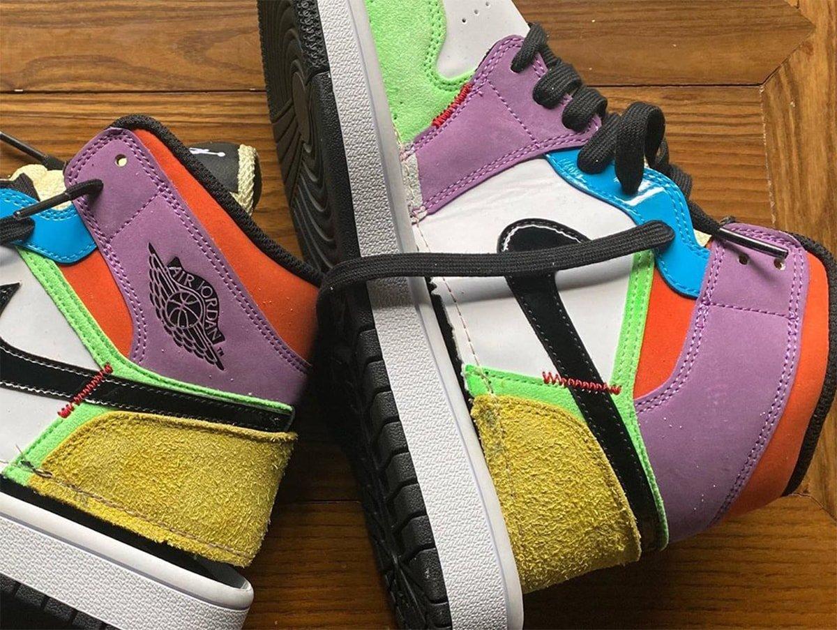 Rainbow Colors Hit The Upcoming Women S Exclusive Air Jordan 1 Mid