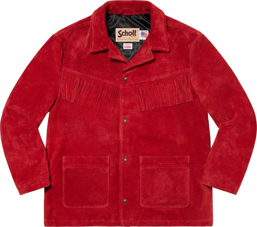 Supreme-ss20-collection-full-look-schott-nyc-vintage-western-fringe-jacket