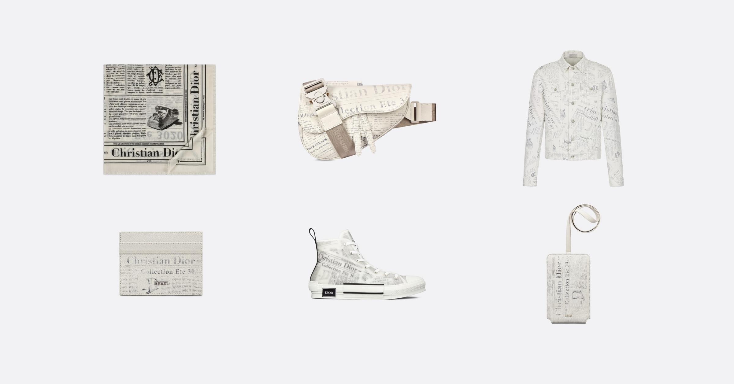 Dior-kim-jones-daniel-arsham-spring-summer-2020-collection-newspaper-print-items