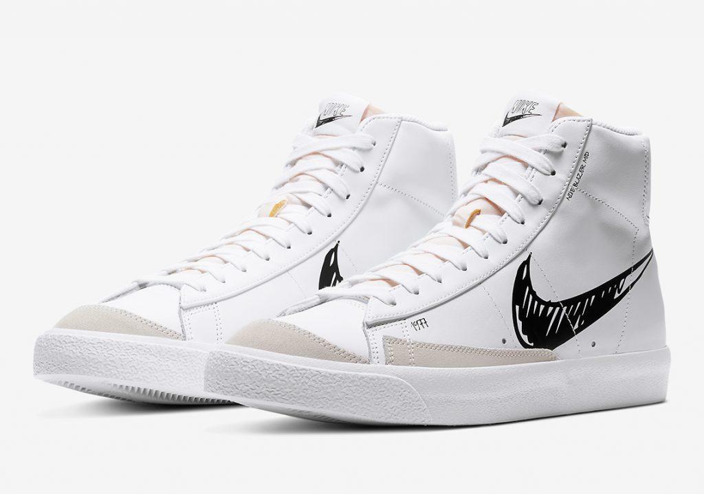 Nike-blazer-mid-Sketch-swoosh