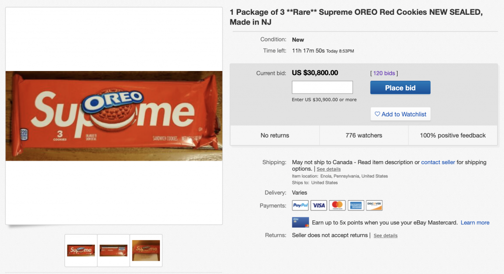 Supreme-oreos-ebay-auction-30000-dollars