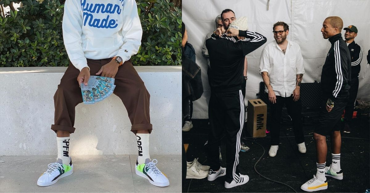 First Look at Pharrell Williams x Adidas Superstar Green