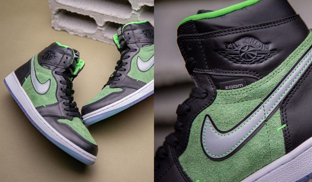 Air-Jordan-1-Zoom-Green-black